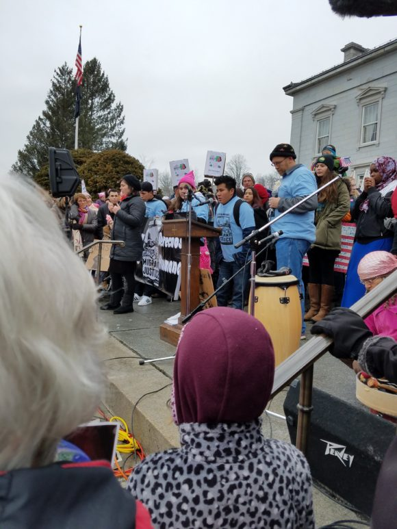 Migrant Workers at Woman's March in Montpelier, VT